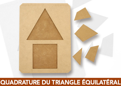Quadrature du triangle equilateral