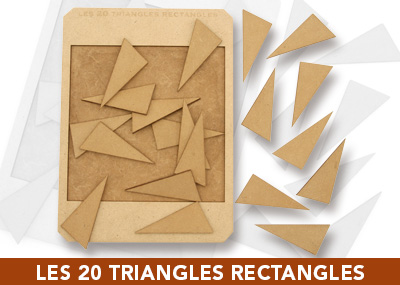 Les 20 triangles rectangles