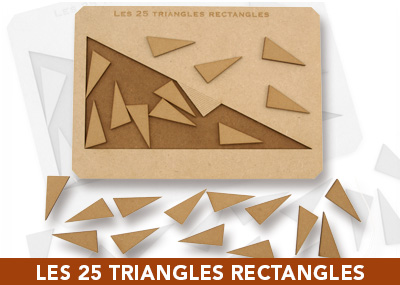 Les 25 triangles rectangles